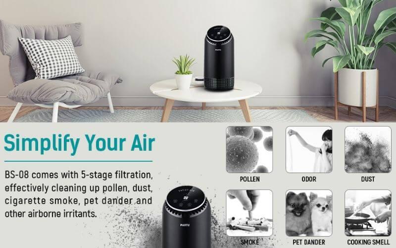 PARTU BS-08 – Best Air Purifier to Remove Dust